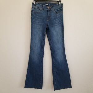 Old Navy Mid Rise Flare Stretch Jeans Size 0